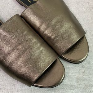 Robert Clergerie Gold Alice Loafer Mules Size 40